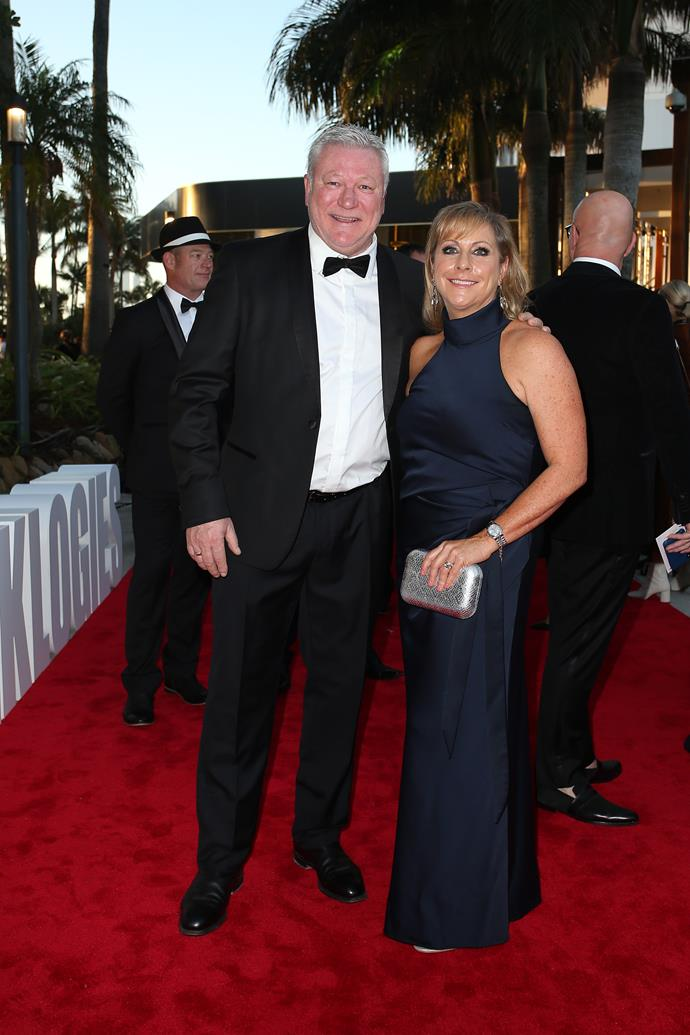Scott and his wife Ann at the TV WEEK Logie Awards.