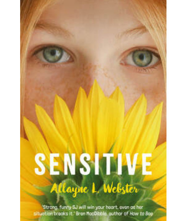 ***Sensitive By Allayne L. Webster:*** When thirteen-year-old Samantha moves to a new town, she decides to reinvent herself. She wants to be called SJ now. She's going to be cool and mysterious. But above all, she's going to pretend to be healthy. SJ suffers from chronic eczema and allergies – she's sick of doctors' appointments and tests, sick of itchiness and pain, sick of looking different, feeling different. All SJ wants is to be 'normal'. She'll do whatever it takes to keep her illness a secret. After all, would new friend Livvy or cute boy Sam still want to hang out with her if they knew the truth? *Sensitive* is largely autobiographical, based on Webster's personal battle with chronic illness, severe life-threatening allergies and chronic atopic eczema.
