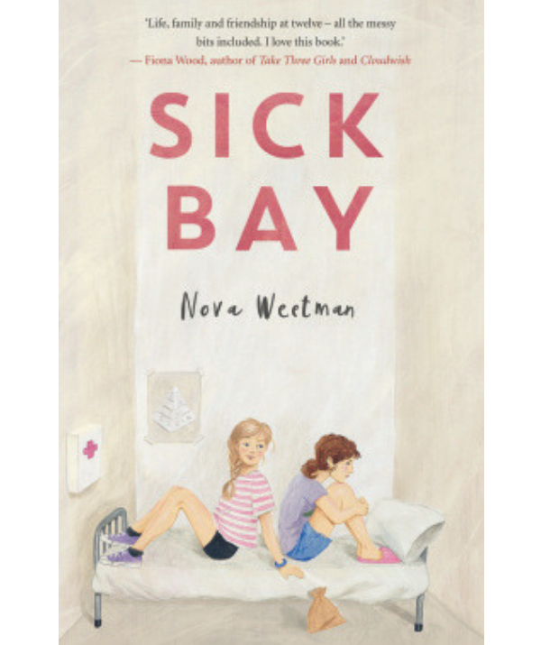 ***Sick Bay By by Nova Weetman:*** Meg uses Sick Bay to hide from other kids. She's struggling with changes at home, wears slippers to school and buries her head in books. New girl Riley is a type 1 diabetic with an over-protective mother. She'd rather chat with her friends than go to Sick Bay, but sometimes she has no choice. They think they've worked each other out, but what if they've got it all wrong? On the brink of high school, Meg and Riley need a place where they can find the courage to be themselves. In this brave and uplifting story about friendship and acceptance, award-winning author Nova Weetman delves into the messiness of growing up.