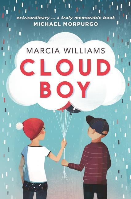 ***Cloud Boy By Marcia Williams:*** Harry Christmas and Angie Moon are best friends and almost-twins. Ever since they were born two days apart they've been partners in cloud-spotting, sweet-eating and treehouse-building. But when Harry is taken to hospital for headaches that won't go away, he needs Angie more than ever. Because when things fall apart, only a best friend can stitch them back together. Told through Angie's lively diary, this is a bittersweet story about friendship and growing up.