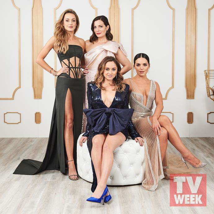 **Isabella Giovinazzo, Annie Maynard, Cece Peters and Olympia Valance, Playing For Keeps** <br><br> The cast of *Playing For Keeps* dazzled on the red carpet, and in the TV WEEK studio.
