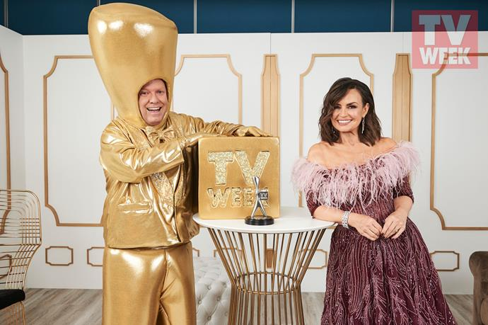 **Peter Hellier and Lisa Wilkinson, The Project** <br><br> *The Project* panellists Peter and Lisa celebrate the show's win.