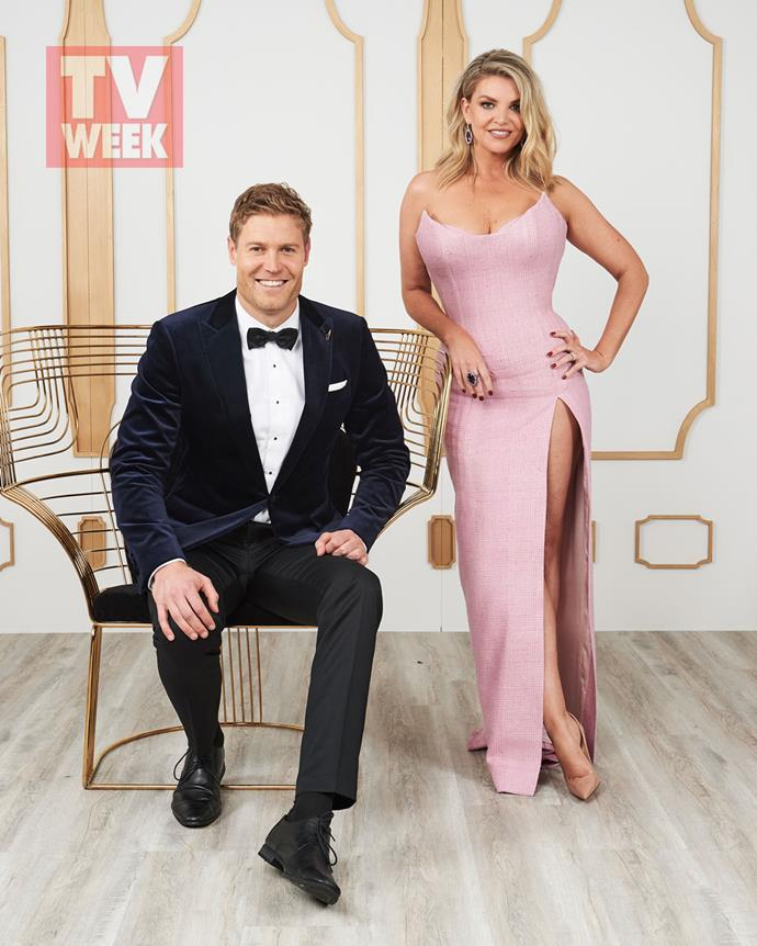 **Dr Chris Brown and Rebecca Madern** <br><br> The glamorous presenters took a quick break in our studio, looking incredible as always.