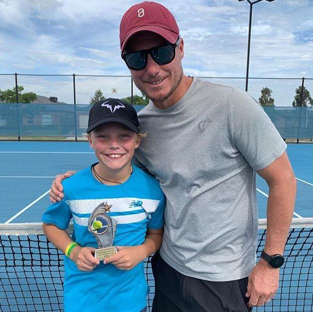 He's his dad's double! Cruz and Lleyton have more than just on-court talent in common!