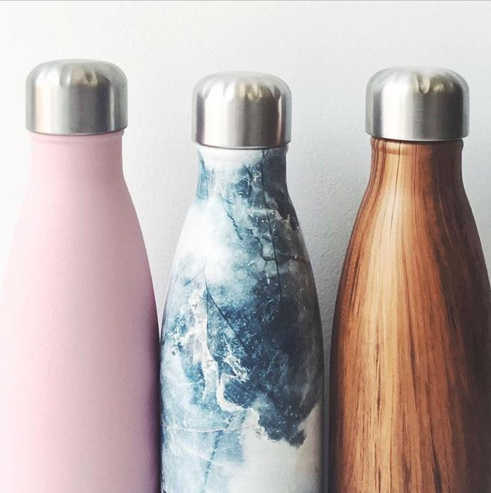 There are plenty of fashionable and environmentally-friendly metal water bottle options out there.