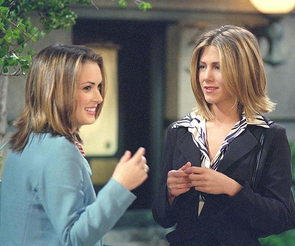 Jennifer Aniston famously locked lips with Winona when she starred on a *Friends* episode.