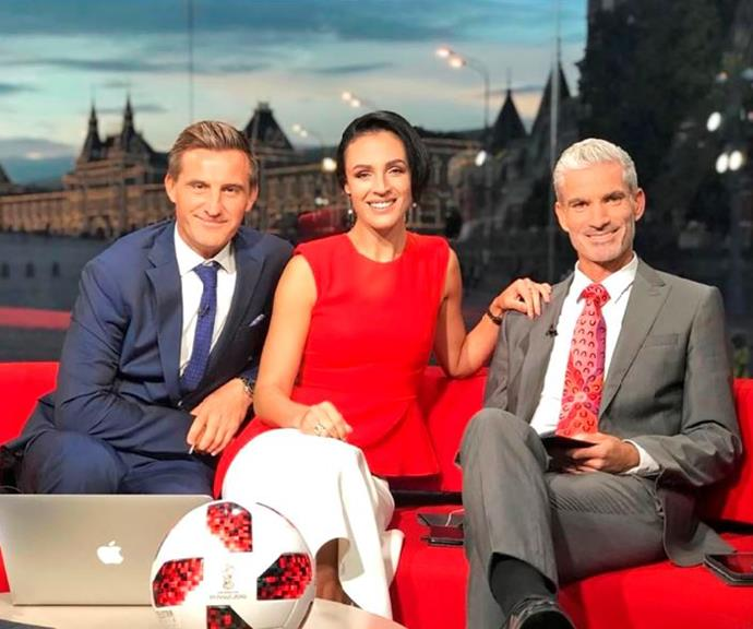 Lucy with David Zdrilic and Craig Foster (Image: Instagram/@lucyzelic).