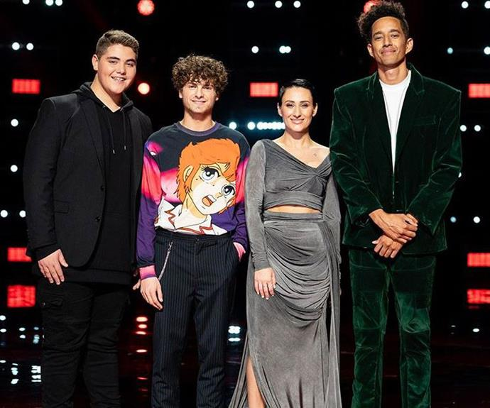 The Voice Australia Top 4 for 2019 (Image: Instagram/@thevoiceau).
