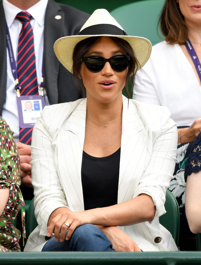 Being a close friend of the tennis legend has its benefits - a great seat at Wimbledon!