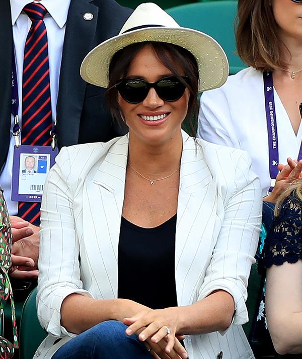 Meghan Markle Wears Adorable Archie Necklace At Wimbledon