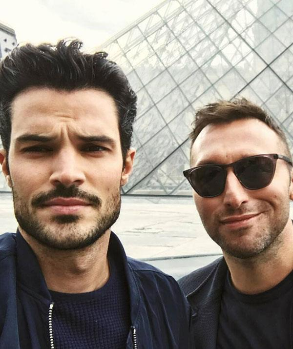Ryan and Ian in happier times in Paris.