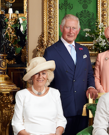 Proud granddad Prince Charles was pictured next to Doria while his wife Camilla, Duchess of Cornwall was radiant in white sitting in the front row.