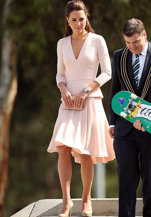 You can't have a royal visit to Australia *without* wearing something summery, and this Alexander McQueen ensemble worn by Kate in 2014 ticked all the boxes.