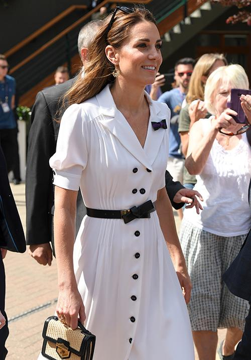 "Proving once again that she's an ace in fashion, Kate's [white shirt dress](https://www.nowtolove.com.au/royals/british-royal-family/kate-middleton-wimbledon-2019-56799|target=""_blank"") worn at Wimbledon was, to put it frankly, absolute heaven."