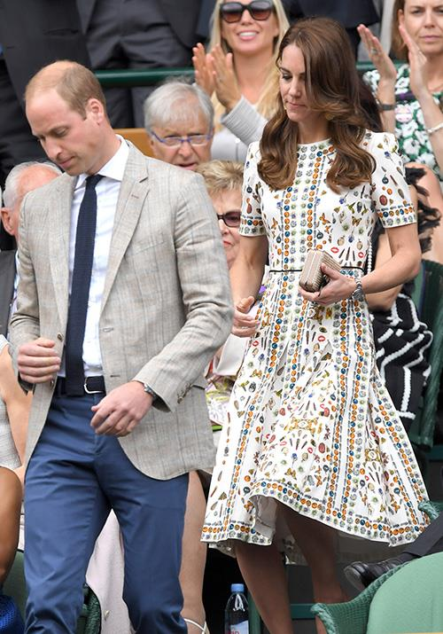 That same year, Kate's printed Alexander McQueen dress worn at Wimbledon was all kinds of classy.
