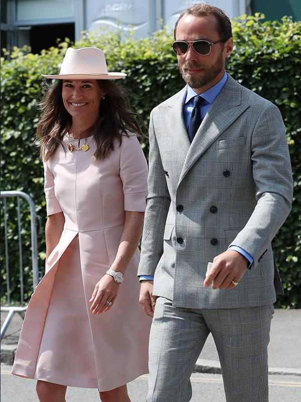 Pippa Middleton arrived at Wimbledon with her brother James.
