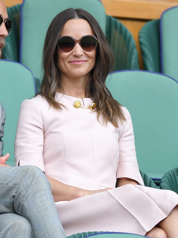 Pippa removed her hat once she was seated in the royal box.