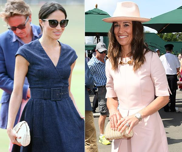 Did you spot it? Duchess Meghan and Pippa Middleton have the same bag!