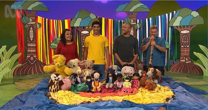 Play School presenters introduce a brand new doll, Kiya!