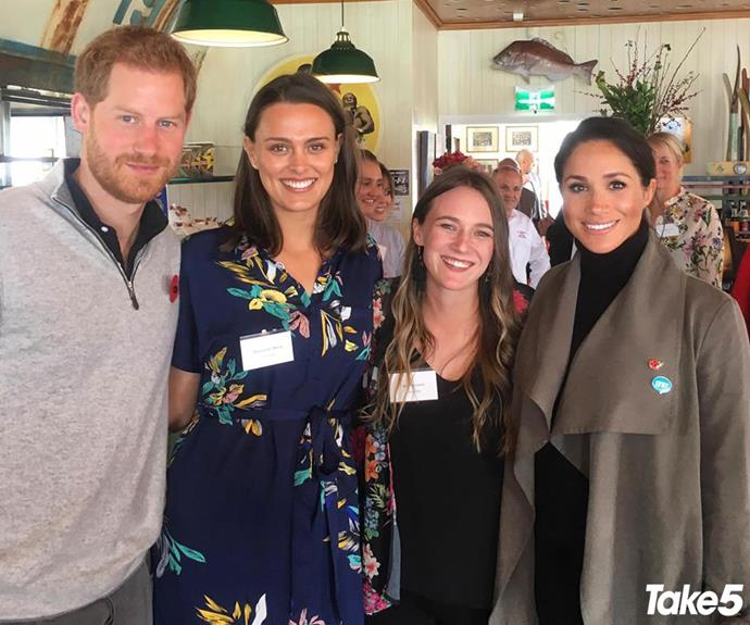 Gen (second left) and I even met Meghan and Harry.