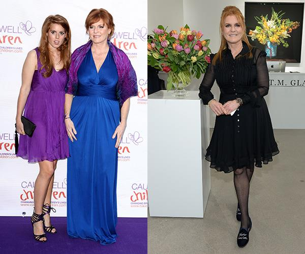 "Sarah Ferguson was cruelly nicknamed the ""Duchess of Pork"" by the UK tabloids due to her struggles with her weight. But the royal mum-of-two, who has also represented Weight Watchers, is looking happier and healthier than ever and told the *Mail Online* that she eats tomatoes, egg mayonnaise and mandarins to keep slim."