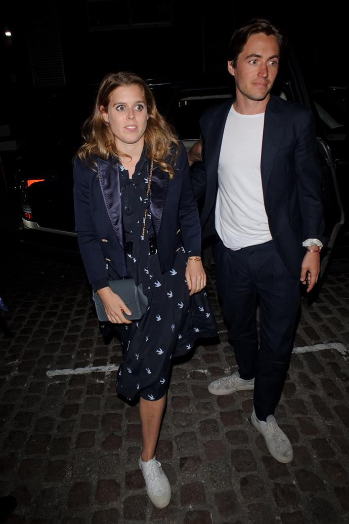 She later rugged up with a chic jacket alongside her boyfriend Edoardo.