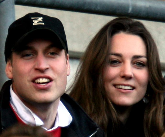 The young couple at a sporting match.