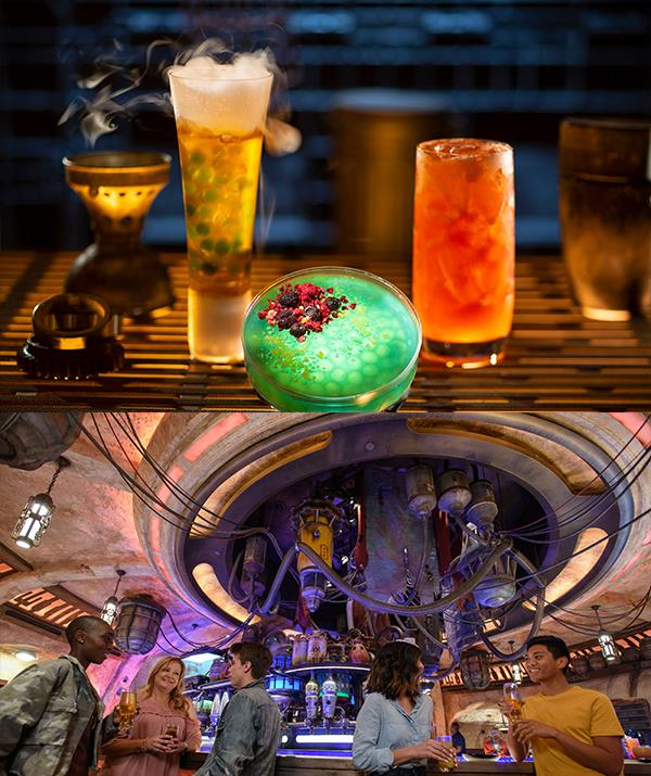 Cocktails from Oga's Cantina at *Star Wars*: Galaxy's Edge.