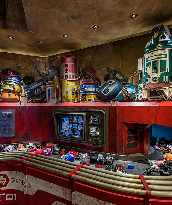 The Droid Depot at *Star Wars*: Galaxy's Edge.