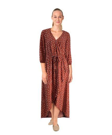 "Kmart's Long Sleeve Wrap Dress in 'rust spot' has caught the attention of Aussies across the country. View it online [here](https://www.kmart.com.au/product/long-sleeve-wrap-dress/2470416|target=""_blank""