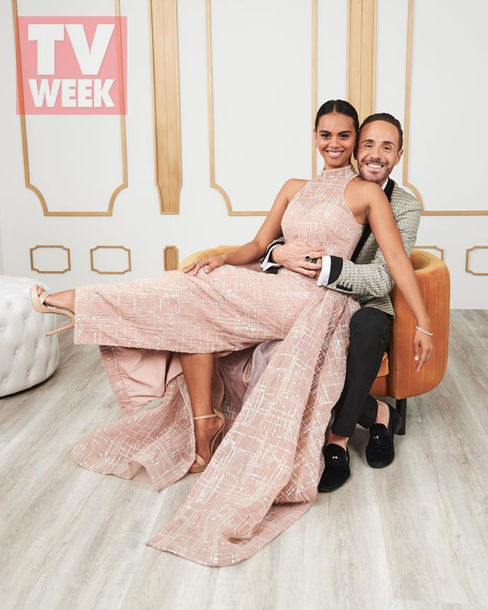 Tasia with stylist Donny Galella at the TV WEEK Logies.