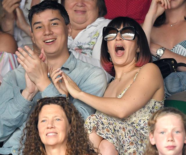 Singer Charli XCX was spotted getting *very* excited from the stands.