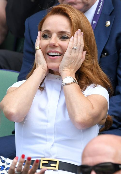 Meanwhile, Spice Girls icon Geri Horner's expression summed up our thoughts upon seeing the gorgeous singer: Stunned.