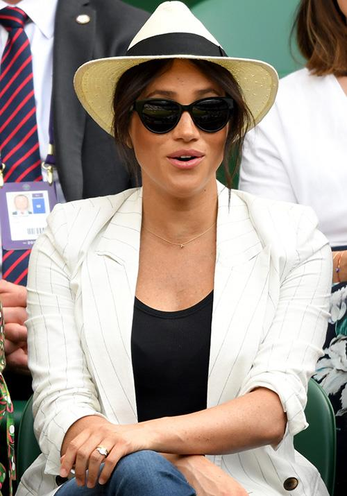 "On day four, Meghan Markle, aka the Duchess of Sussex surprised fans by [taking a break from maternity leave](https://www.nowtolove.com.au/royals/british-royal-family/meghan-markle-wimbledon-2019-56856|target=""_blank"") to watch her longtime pal Serena Williams play."