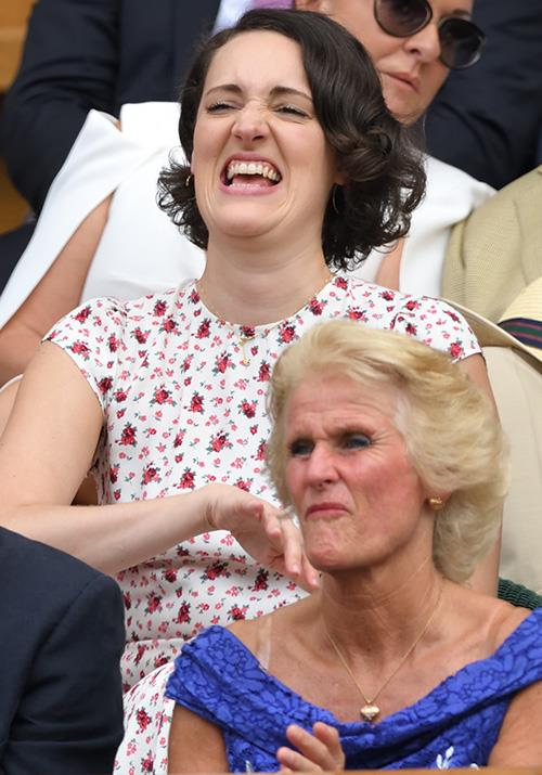Actress and famed writer Phoebe Waller-Bridge put on what might be our favourite display of all as she watched a match unfold on centre court.