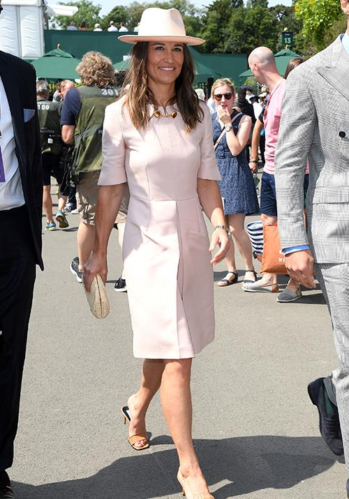 Pippa's pink Stella McCartney creation paired with a matching hat was utter heaven.