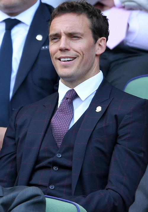British actor Sam Claflin was clearly bemused by the game unfolding in front of him... here's hoping things picked up!