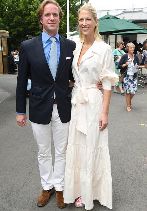 They've got that newlywed glow! Lady Gabriella Windsor and her new husband Thomas Kingston made an appearance together at this year's Championships. We're *big* fans of the stunning royal's footwear - a cute pop of colour to compliment her chic shirt-dress.