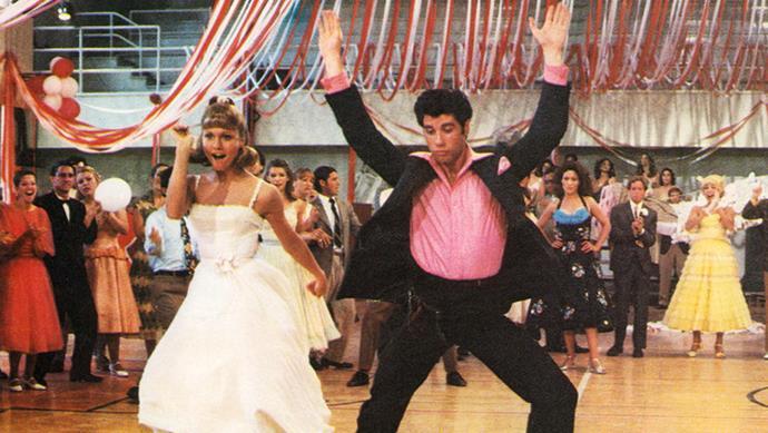 Olivia and John Travolta in *Grease*.