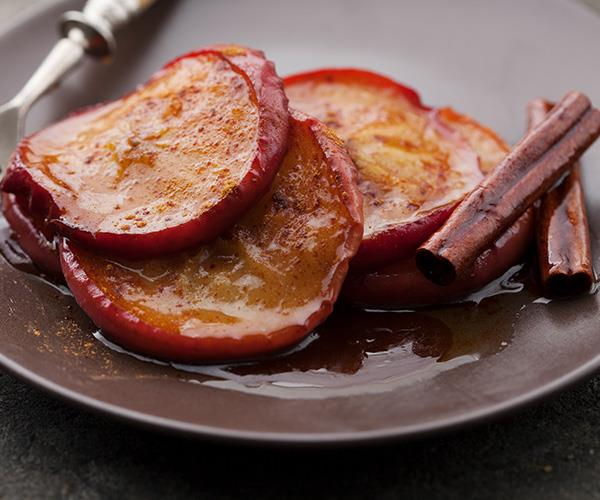 Baked apples with cinnamon make a delicious and healthy winter treat.