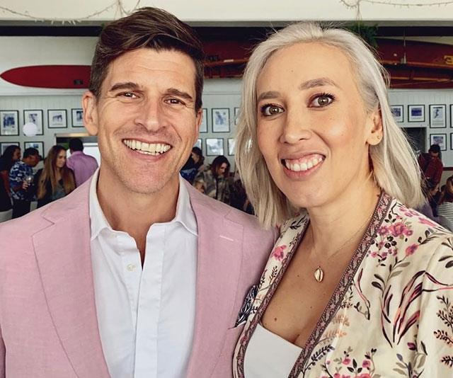 Baby on board! Osher (pictured with wife Audrey Griffin) is currently prepping for the impending arrival of his first son.