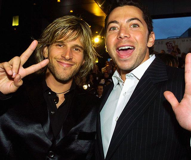 "Osher (pictured with Idol co-host James Mathison) said life was ""very different"" for him during that period  and that he doesn't ""remember seasons two, three and four basically""."