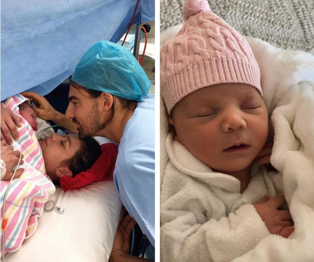 Her baby girl is here! Lisa gave birth to daughter Myja-Jae Annie Collina.