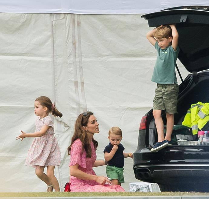 Cambridges let loose! Kate and her kids looked like they were having a fabulous time.