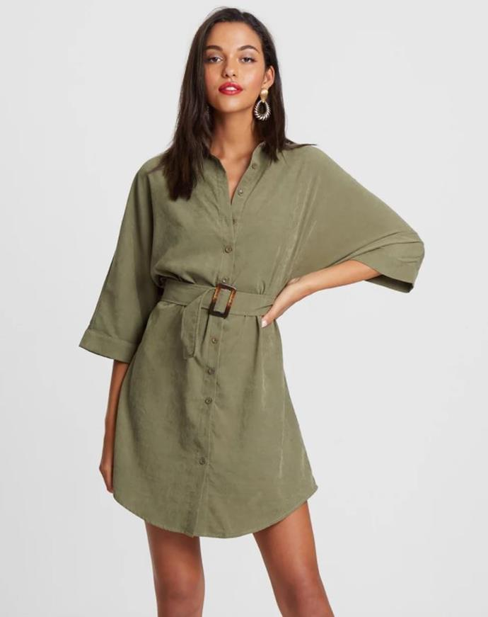 "Calli Navo Belt Shirt Dress from **The Iconic**, $99.95. Buy it [online here](https://www.theiconic.com.au/navo-belt-shirt-dress-806497.html|target=""_blank""