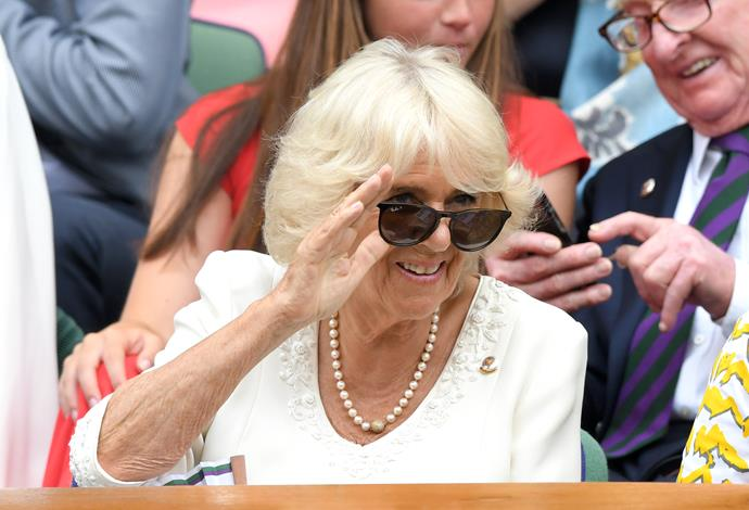 And she later donned her sunnies to get a proper good look at all the on-court action!
