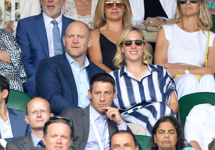 Spotted! Zara and Mike Tindall thrilled fans with their surprise appearance at the tournament.