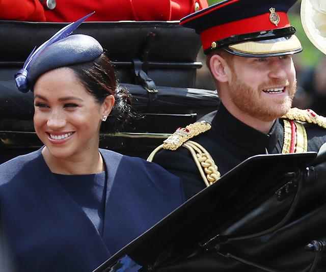Meghan and Harry at Trooping the Colour last month.