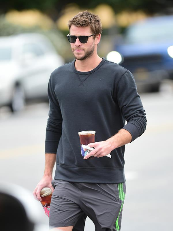 Liam was spotted looking glum – and his ring finger noticeably bare – while on a coffee run in LA last week.