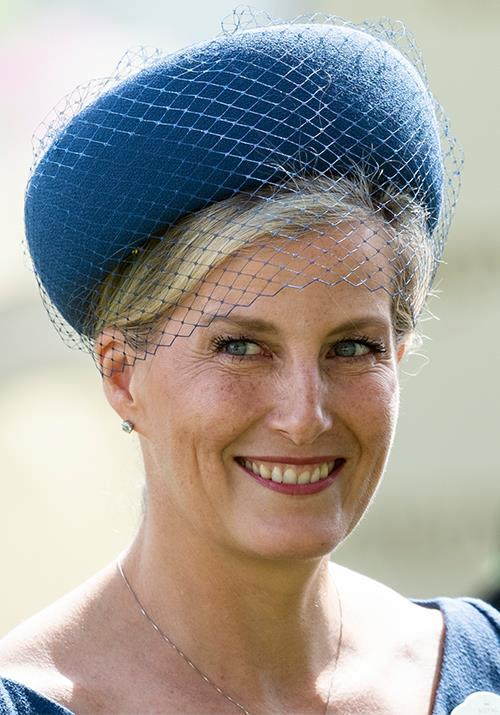 Her royal blue hat on the day made her stunning blue eyes really pop, too!